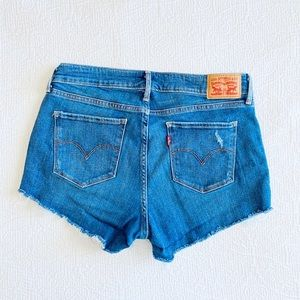 Levis Cut Off Jean Shorts